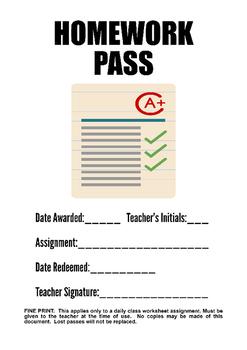 Generic Homework Pass