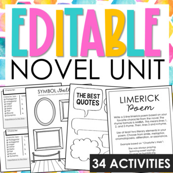 Blank Generic Interactive Notebook Novel Unit Study Activi