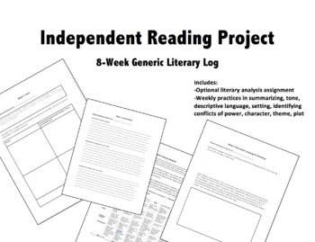 Generic Literary Log for Any Book