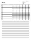 Generic Log Sheet
