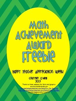 Generic Math Achievement Award