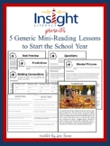 5 Generic Mini Reading Lessons to Start the Year