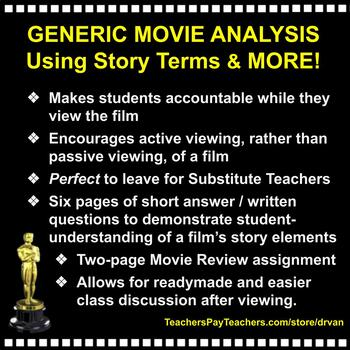 Generic Movie Analysis Using Short Story Terms — Great for any Substitute!