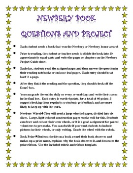 Newbery Book Question and Projects for ANY Newbery Book!
