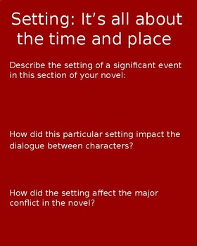 Generic Novel Literature Circle Powerpoint Set