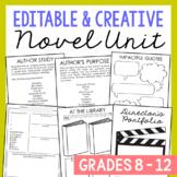 Blank Generic Novel Unit Study Activities, Book Companion