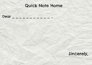 Quick Note Home