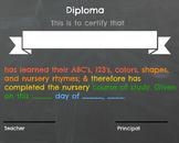 Generic Nursery School Stepping Up Graduation Diploma