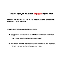 Generic Open-Ended Questions For Any Novel,