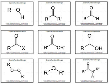 Organic Functional Groups Flash Cards