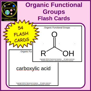 Organic Functional Groups Flash Cards