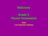 Generic Parent Orientation Power Point Slideshow