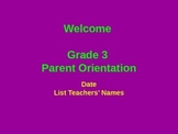 Generic Parent Orientation Power Point Slideshow