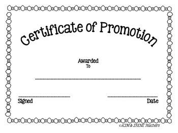 Generic Promotion Award Certificate