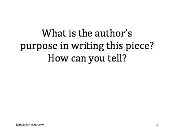 Generic Questions for Nonfiction & Fiction Reading