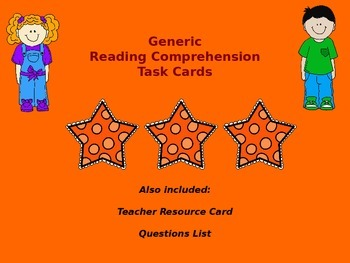 Text Dependent Reading Comprehension Task Cards and Teache