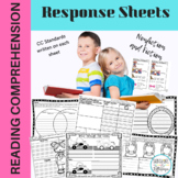 Reading Comprehension Frames and activities for 1st Grade Common Core Aligned