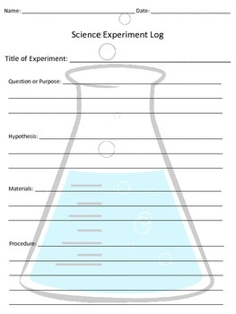 Generic Science Experiment Log or Template