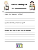Generic Scientific Investigation Form For Intermediate Ele