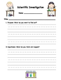 Generic Scientific Investigation Form For Primary Grades