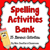 Spelling Activities for ANY Word List - Editable