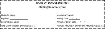 Generic Staffing Form