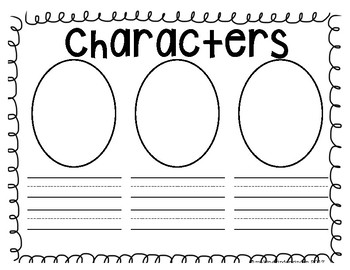 Generic Story Elements and Opinion Writing Worksheets