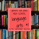 Generic Sub Plan Language Arts Set #1