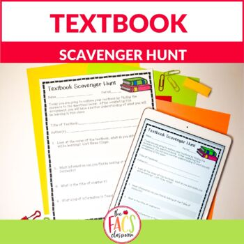 Generic Textbook Scavenger Hunt