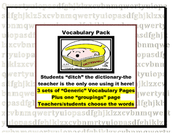 Generic Vocabulary Sets  (For Context Clues and Synonyms)