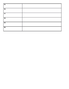 Generic Vocabulary Worksheet