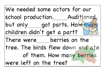 Generic subtraction word problems