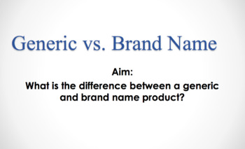 Generic vs Brand Name Bundle (LP, Notes, PP, & Activity)