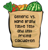 Generic vs. Name Brand Taste Test and Unit Pricing Calculation