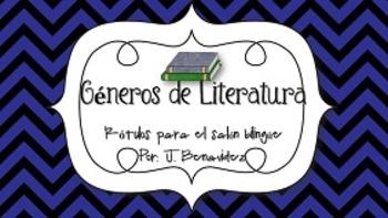Generos de Literatura - Rotulos para el salon