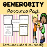 Generosity Activities for Social Emotional Learning