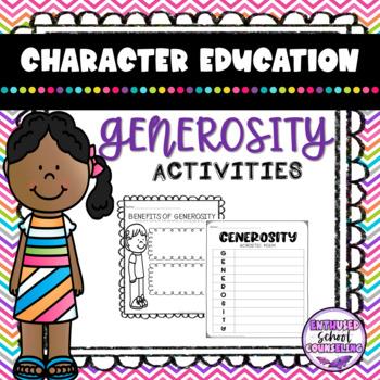 Generosity Activity Pack- 10 Activities