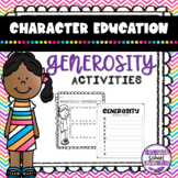 Generosity Activities for Social Emotional Learning and Character Education