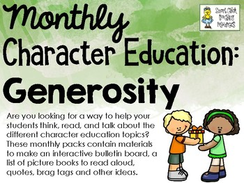 Generosity - Monthly Character Education Pack