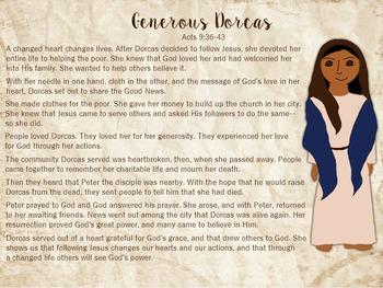 Generous Dorcas Character Sheet