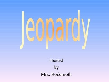 Genes Jeopardy Review