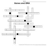 Genes and DNA Crossword Puzzle