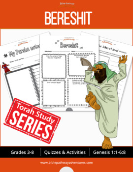 Bereshit (Genesis 1:1-6:8) Bible Quizzes and Activities Workbook