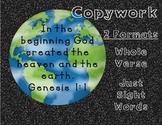 Genesis 1:1 Copywork