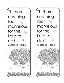 Genesis 18 FREE Bookmark