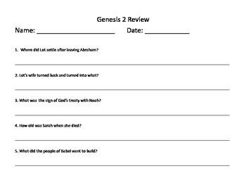 Genesis 2 Review and Exam (Babel, Noah, Abraham and Sarah, Sodom and Gomorrah)