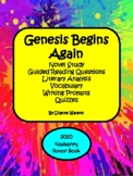 Genesis Begins Again Novel Study--Guided Reading Questions