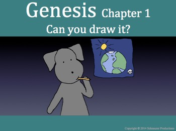 Genesis, Chapter 1, with Pepper.  What would you draw?