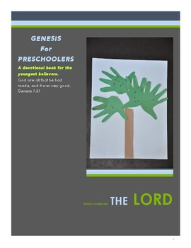 Genesis for Preschoolers | A Devotional Book for the Youngest Believers