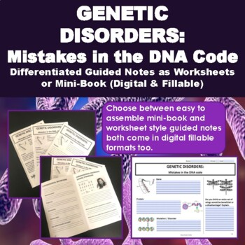 Genetic Disorders: Mistakes in the DNA code, DNA mutations ...